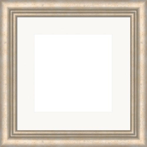 Classic Champagne Picture Frame With Beading and White Mat Jasmine