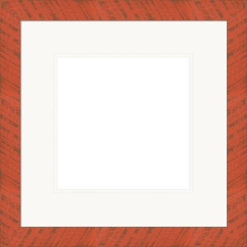 Rustic Orange Picture Frame WIth White Double Mat Simpson
