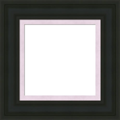 Classic Black Picture Frame With Lavender Liner Robyn