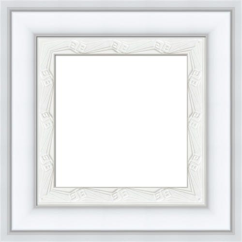 Modern White Picture Frame With Art Deco Details Katherine