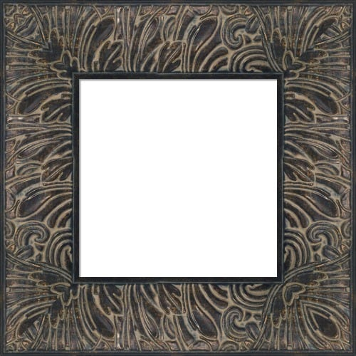 Bold Espresso Picture Frame With Botanical Motif Samba