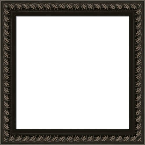 Modern Black Picture Frame With Rope Pattern Jefferson