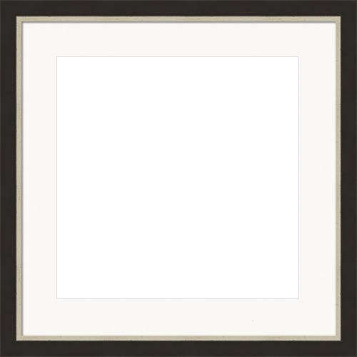 Classic Satin Picture Frame With Silver Brushed Lip And White Mat Jack