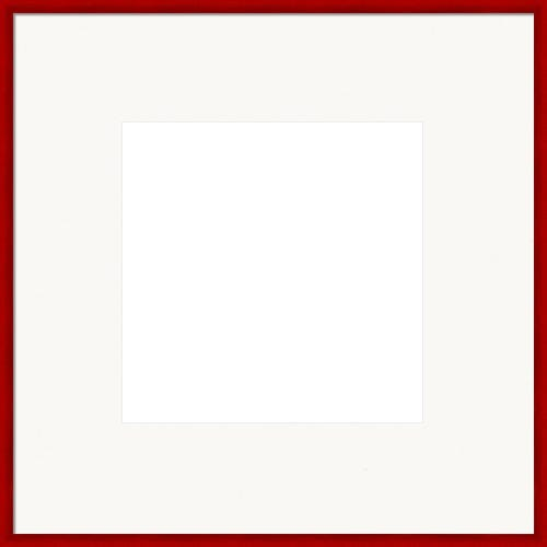 Red Picture Frame With Bright White Mat Scarlett