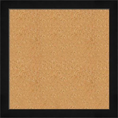 Satin Black Framed Cork Board