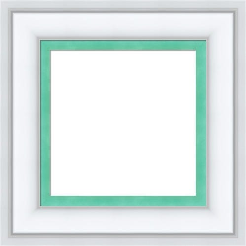White Picture Frame With Teal Liner Ella