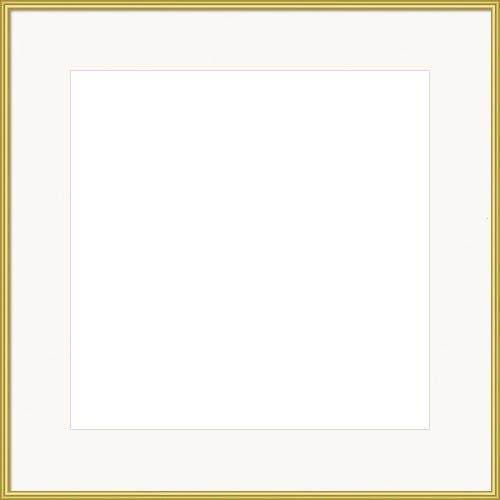 Modern Gold Picture Frame With White Mat Porter