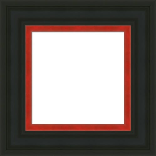 Classic Black Picture Frame With Red Innder Liner Poppy
