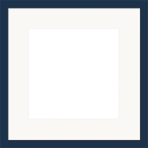 Modern Navy Blue Picture Frame With White Mat Jimmy