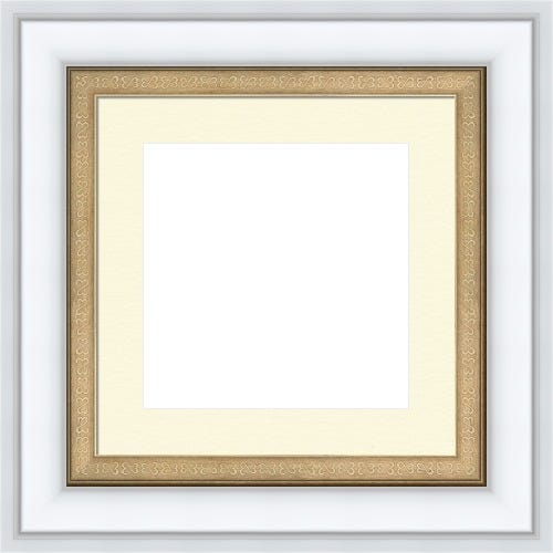 Classic White Picture Frame With Antique Silver Liner Grace