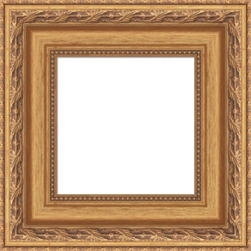 Antiqued Gold Picture Frame With Beading Tristan
