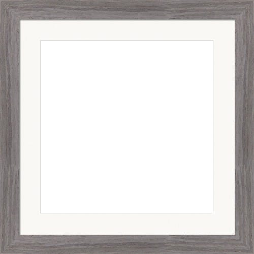 Rustic Gray Picture Frame With Bright White Mat Tate