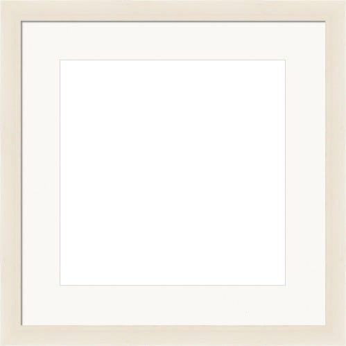Thin Natural Picture Frame With White mat Helena