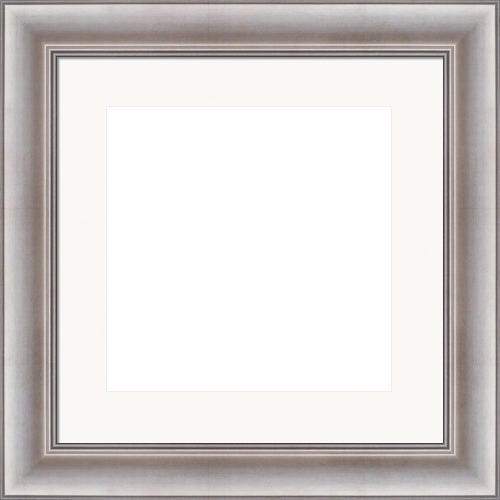 Classic SIlver Picture Frame With White Mat Emerson
