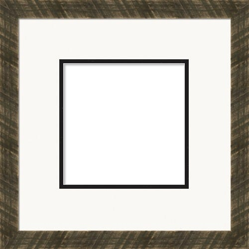 Rustic Black Picture Frame With Double Matting Sylvia