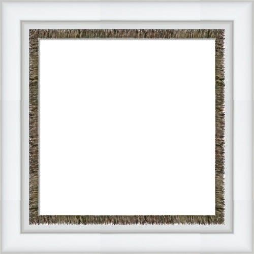 Elegant White Frame With Textured Silver Liner Sophia