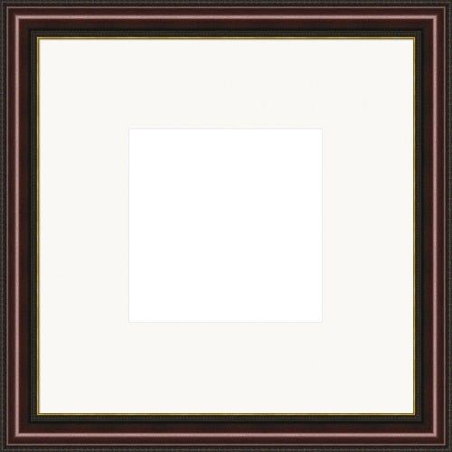 Deep Cherry Picture Frame With Gold Accent And White Mat Margaret