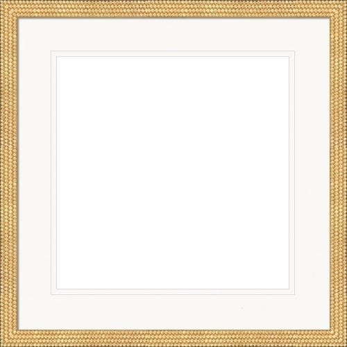 Elegant Gold Picture Frame With Intricate Studs and Double White Mat Pippa