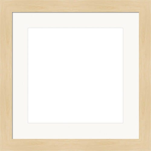 Classic Maple Finished Picture Frame With White Mat Renee