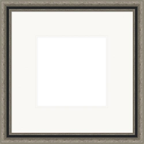 Antiqued Silver Picture Frame With White Double Mats Henri