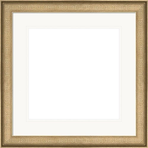 Elegant Antique Patterned Silver Picture Frame With Double White Mat Phylicia