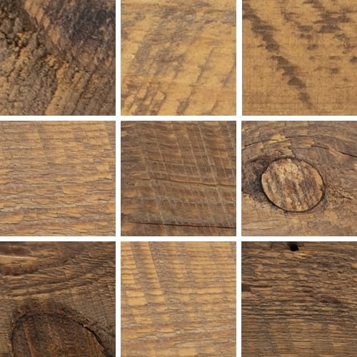 Additional images of finish variation for natural reclaimed barn wood frames.