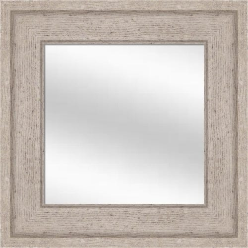 Weathered Gray Framed Mirror
