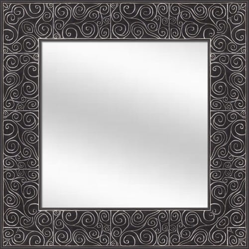 Midnight W/Soft Silver Framed Mirror