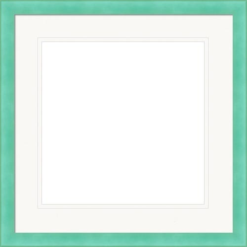 Bright Teal Picture Frame With Double White Mat Zoey