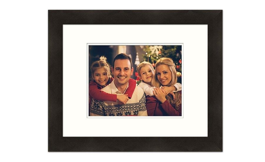 Family Portrait in Black Frame