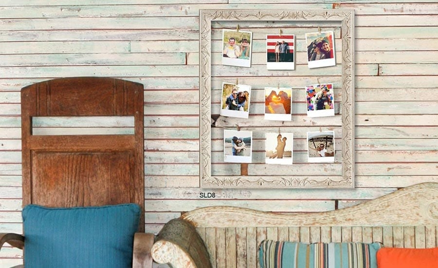 Picture Frame Photo Clothesline DIY