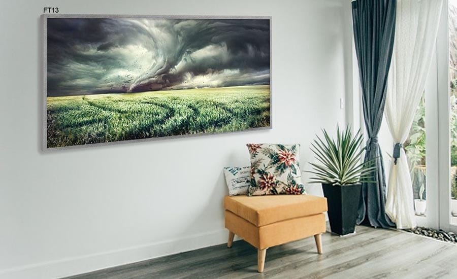 Storm Photo Framed in Room Environment