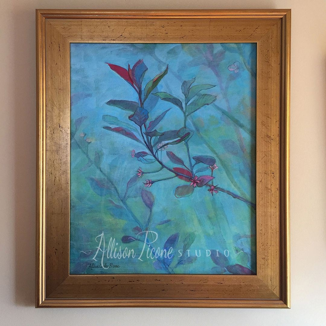 Nature Painting Framed in Plein Air Frame