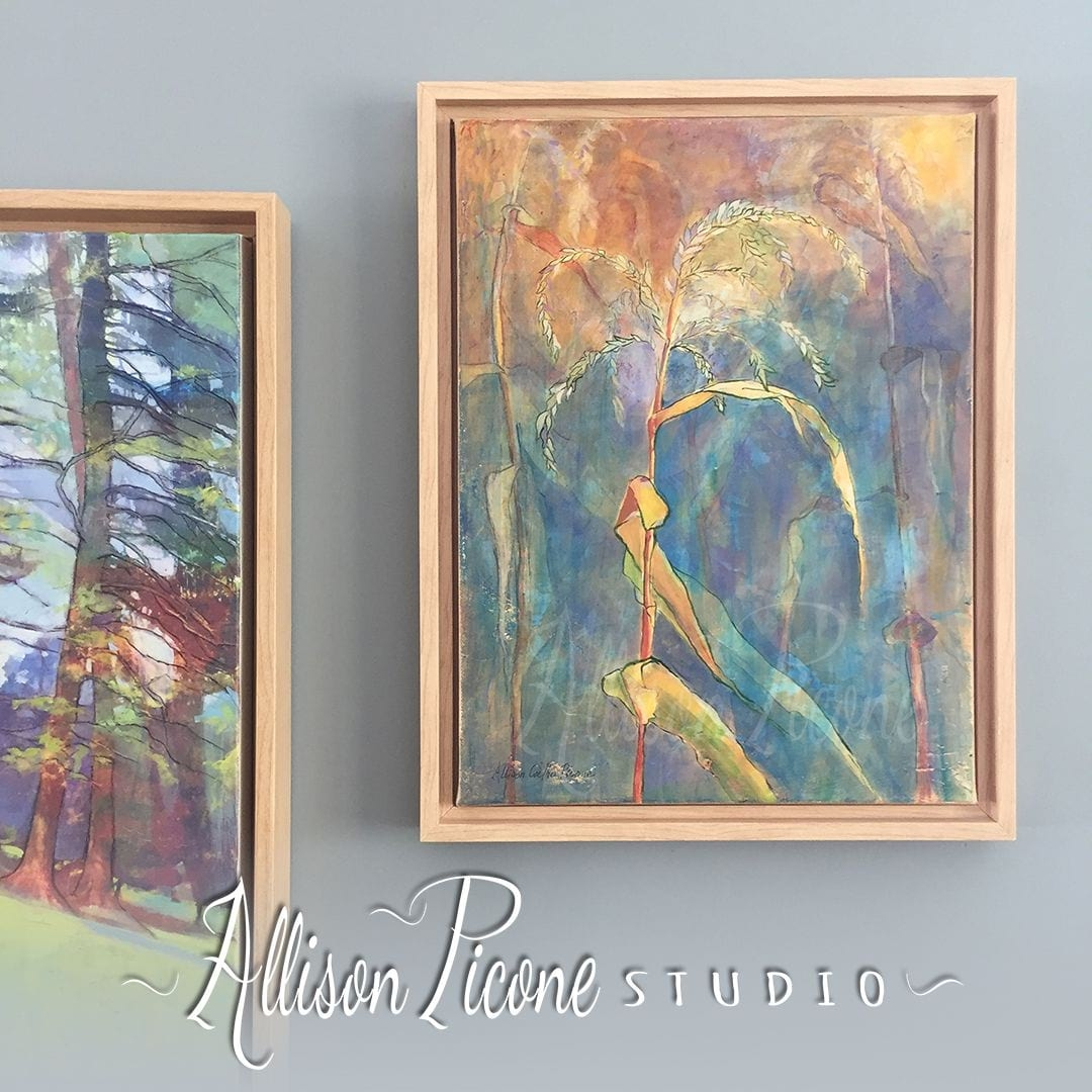 Nature Paintings Framed in Canvas Floater Frames