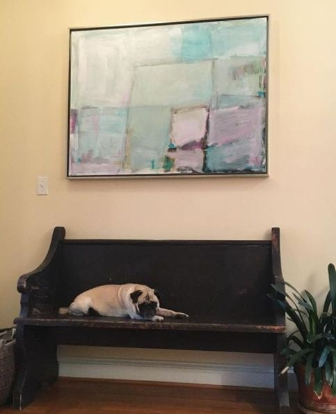 Porky the Pug and a gorgeous piece by Sarah Trundle