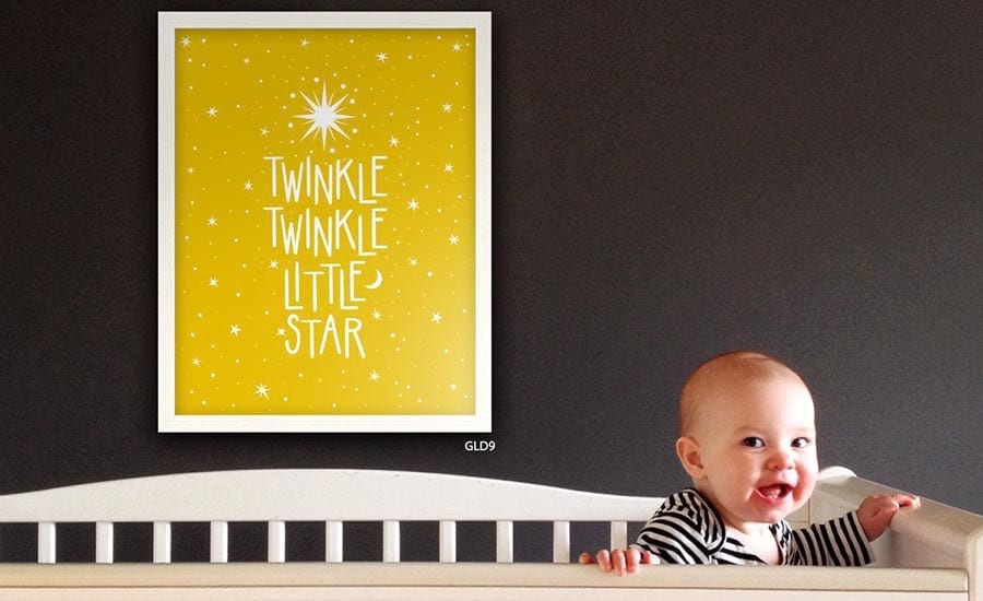 Poster Framed in Childs Nursery