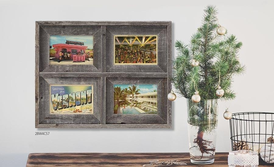 Grey Driftwood Collage Photo Frame