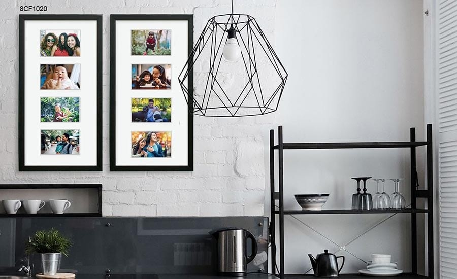 Framed Collage Pictures in Kitchen