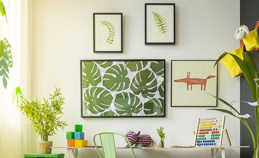 Plant Art in Black Modern Frames