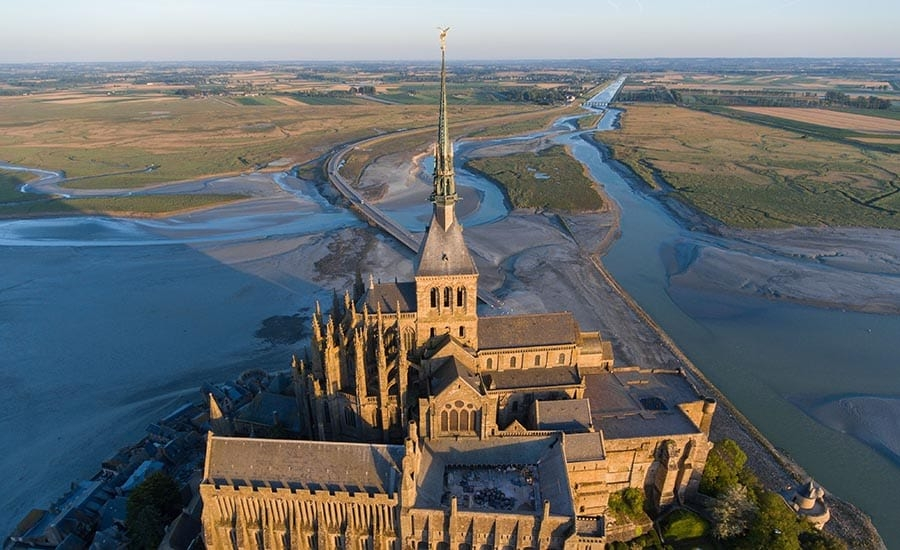 Drone Photography of Landscape and Cathedral