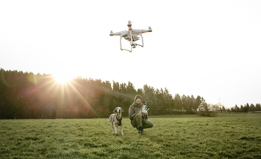 Photographer Flying Drone
