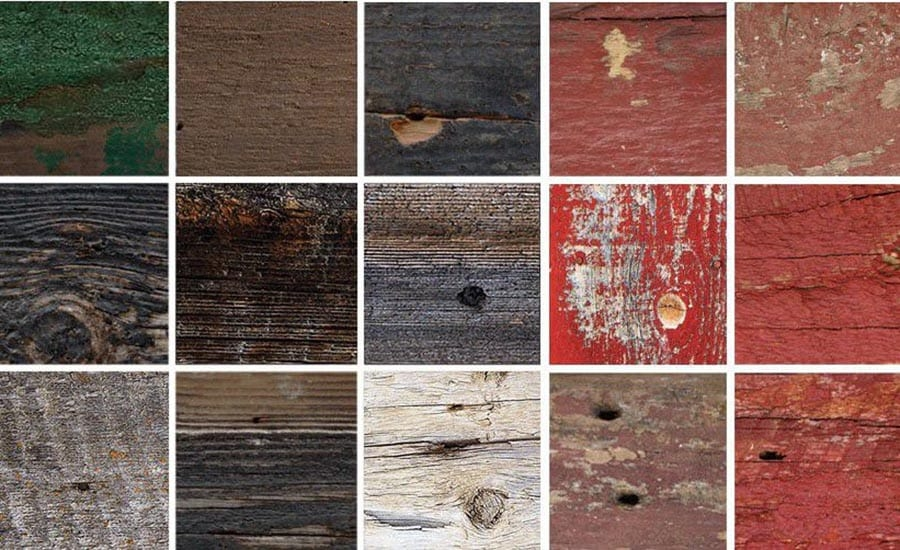 Grid of Barnwood Frame Samples