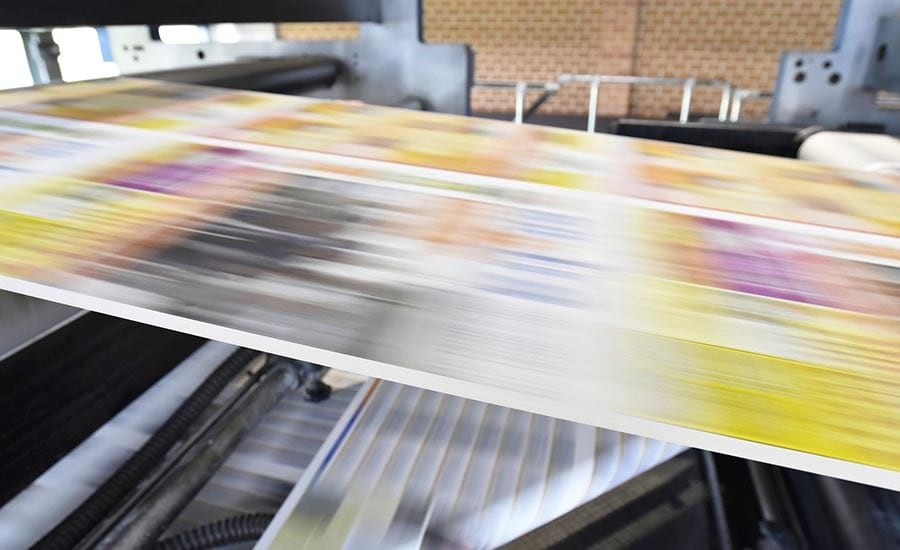 Roll of Paper Being Printed
