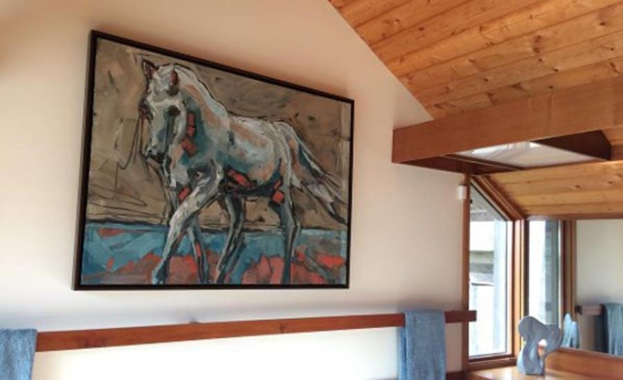 Horse Painting in Canvas Floater Frame