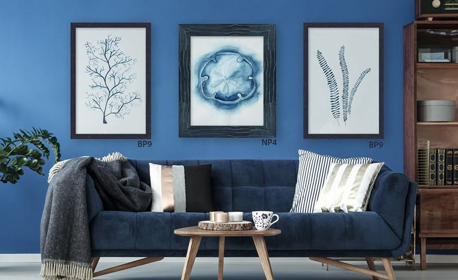 Wall Collage Custom Blue Frames