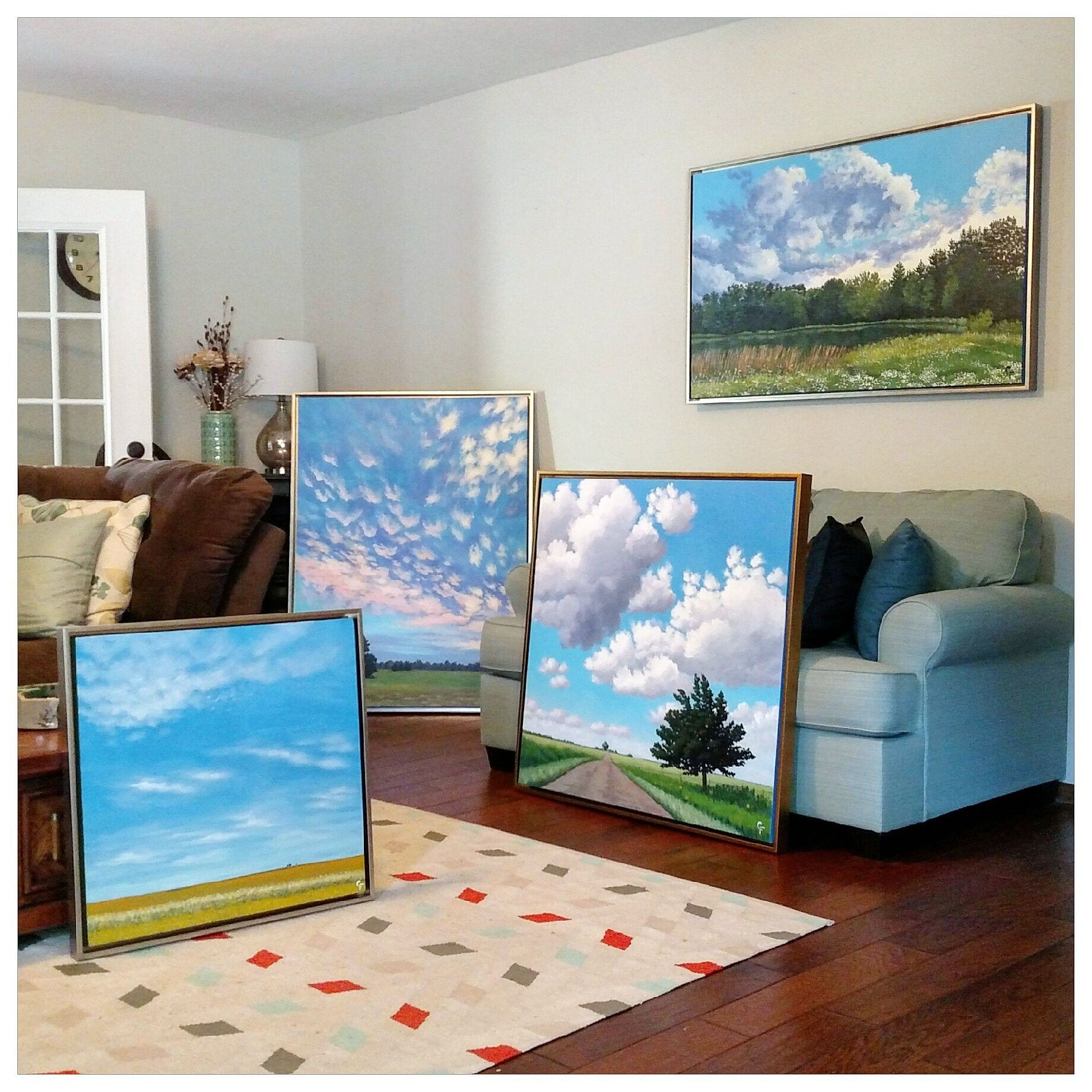 Landscape Paintings in Canvas Floater Frames