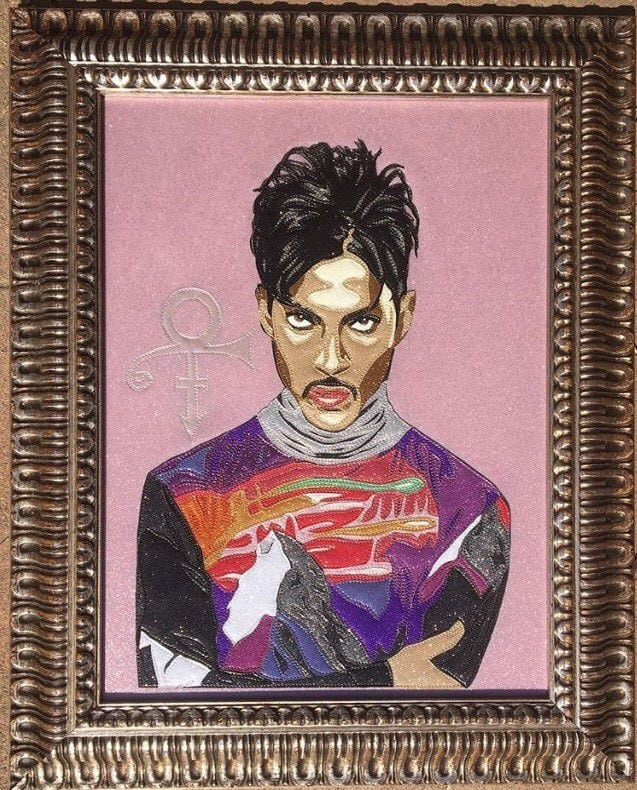 Prince Portrait Art in Gold Ornate Frame