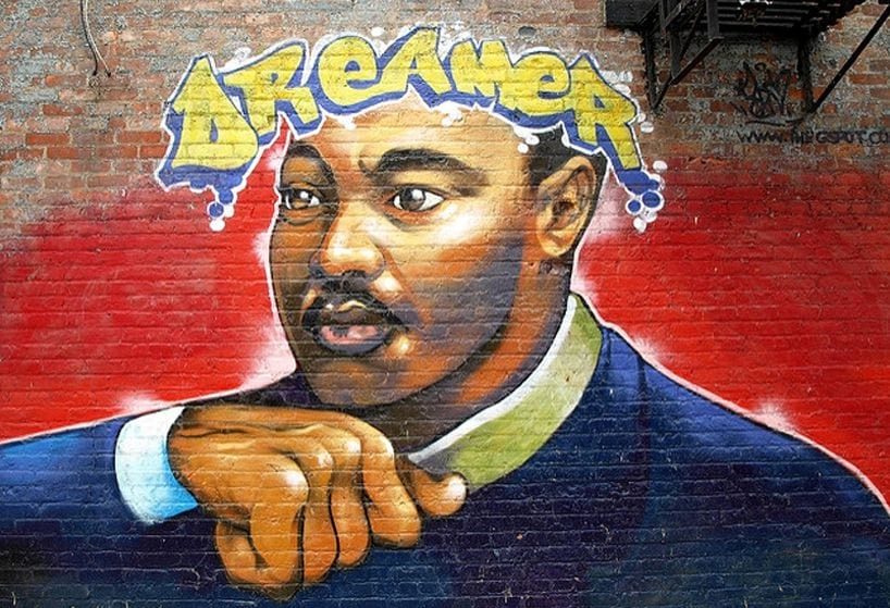 Martin Luther King Jr. Spray Paint Art