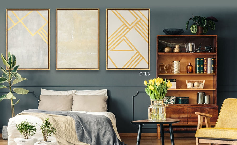 Canvases in Gold Canvas Floater Frames